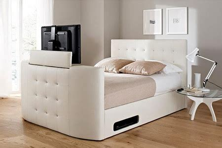 bed frame with built in tv stand ideas para esconder la televisi 243 n