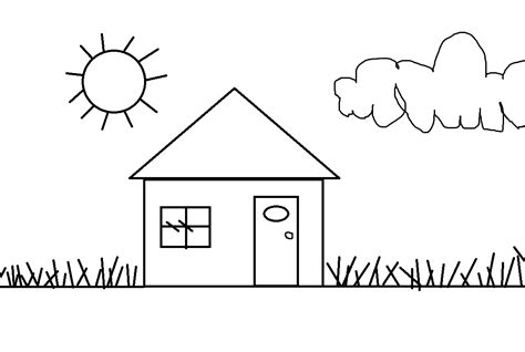 simple house drawing simple drawings for house www imgkid the image kid has it
