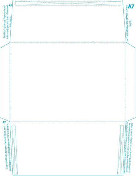 A7 Printable Envelope Template