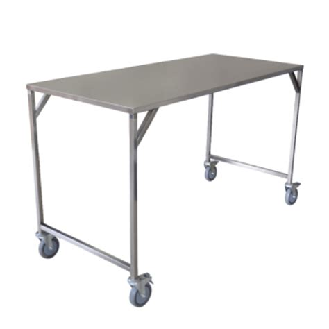 Stainless Steel Folding Table Stainless Steel Linen Folding Table Trolley Advance Trolleys Trolleys For Every Purpose