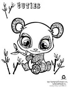 cute pandas colouring pages