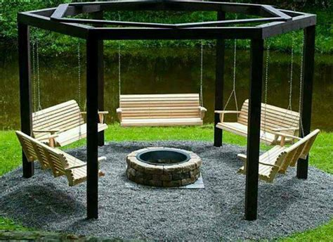 diy pit sitting area circular firepit seating area design