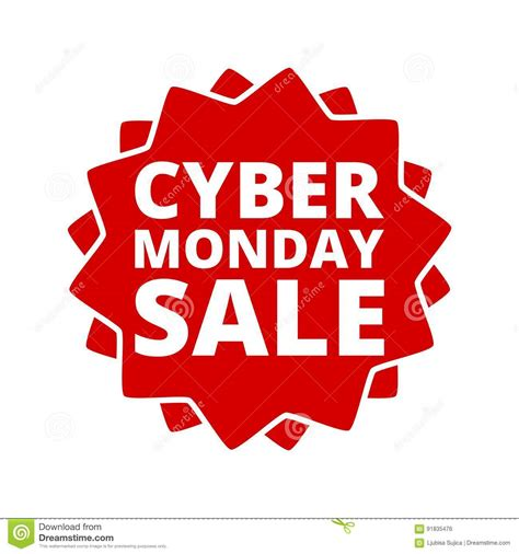 cyber monday desk sale hangtags cartoons illustrations vector stock images