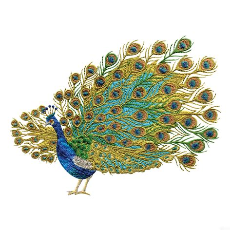 embroidery design of peacock swnpa125 peacock embroidery design