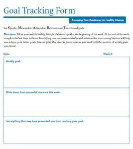 Goal Tracker Template by Goal Tracking Template 7 Free Sles Exles Format