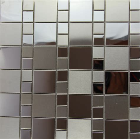 sale square silver metal mosaic stainless steel sheet