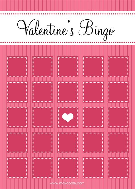 blank valentines card template 8 best images of printable blank s day bingo