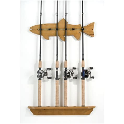How To Build A Fishing Pole Rack by Organized Fishing Fish Wall Rod Rack 200562 Fishing Rod