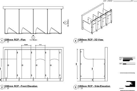 Bathroom Partition Details Dwg Planos De Cub 237 Culos Toilet En Dwg Autocad Artefactos