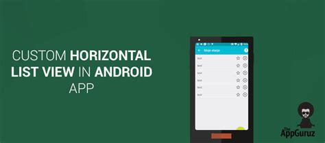 android horizontal listview custom horizontallistview in android app