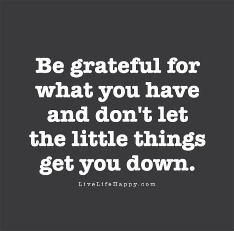 Be Grateful For The Little Things Don T Overthink A Lot - be grateful for what you have and don t let the little