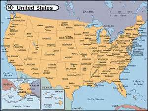 United States Map With States Map United States Major Cities Map Holiday Travel