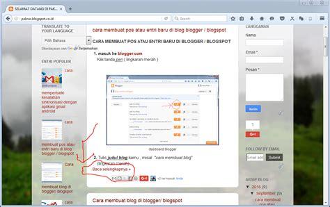 tutorial menggunakan blogger dunia blogger tutorial cara untuk membuat tulisan quot baca