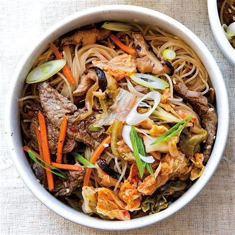 Korean Cook Si Hans Rice Noodle With Spicy Flavored Seafood Sup korean beef noodles williams sonoma taste
