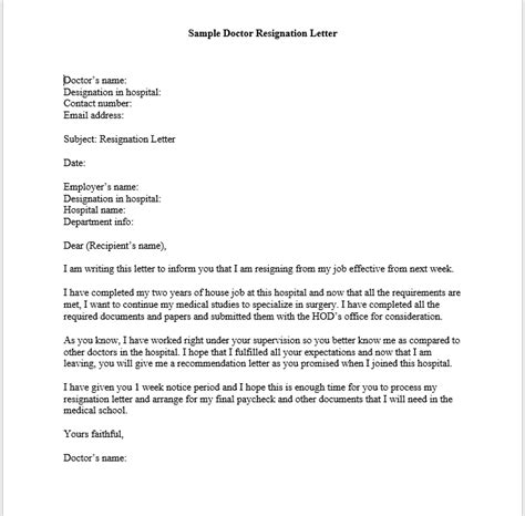Resignation Letter Hospital General Resume 187 Hospital Resignation Letter Cover Letter And Resume Sles