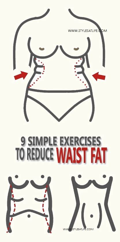 simple exercises  reduce waist fat styles  life