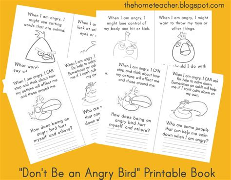 angry birds anger management worksheets 8 best images of printable angry bird activities angry