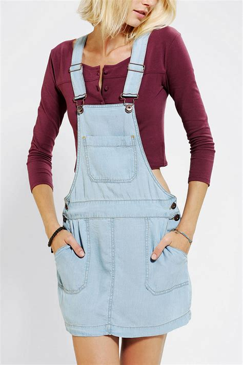outfitters coincidence chance chambray overall skirt