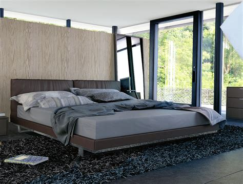 King Size Platform Bed With Headboard by Modern Platform Bed With Coffee Faux Leather