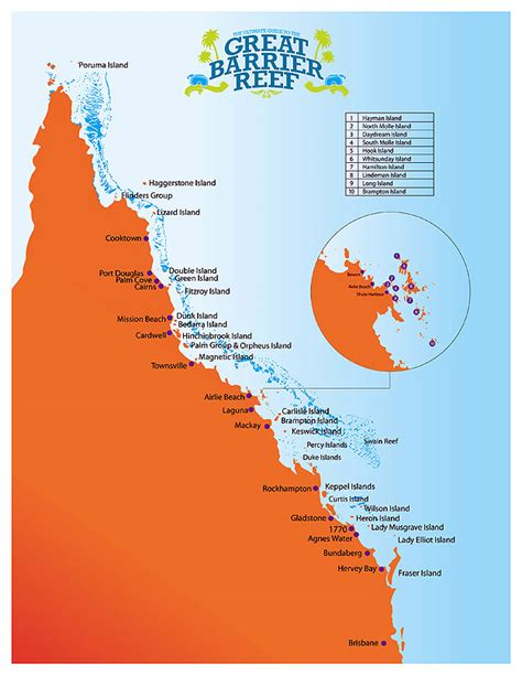 great barrier reef map the ultimate guide to the great barrier reef australian traveller