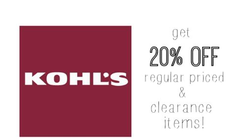 Can You Use Kohl S Cash To Buy Gift Cards - kohls com coupon codes 20 off clearance regular priced items southern savers