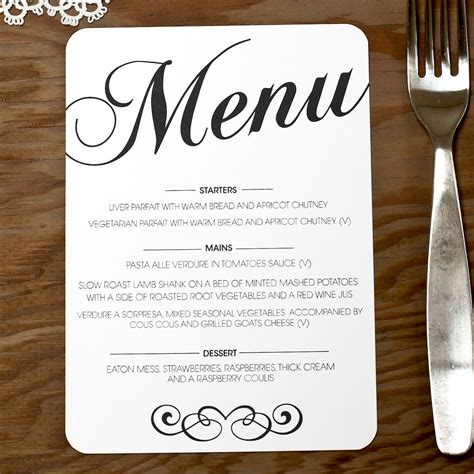 Menu Cards Template Wedding Reception by Wedding Menu Monogram Table Cards Numbers Szukaj W