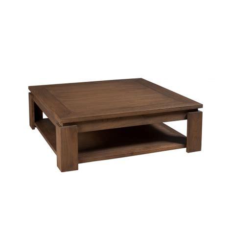 table basse carr 233 e bois acajou cannelle 90cm louna pier - Le 90 Cm