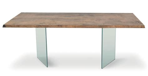light wood table top table with legs made of tempered glass wooden top idfdesign