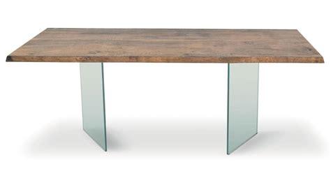 piano tavolo legno tavolo con gambe in vetro temperato piano in legno