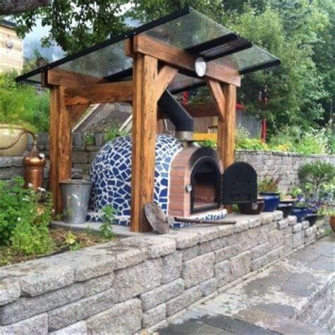 backyard brick pizza oven mosaic outdoor wood fired pizza oven