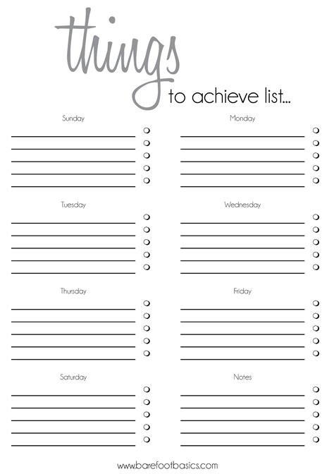 printable weekend to do list to do list template rochelle stone barefoot basics