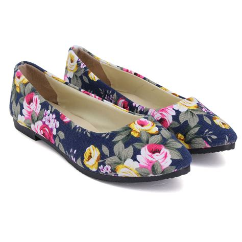 flower ballerina shoes womens flower floral flat casual shoes ballerina