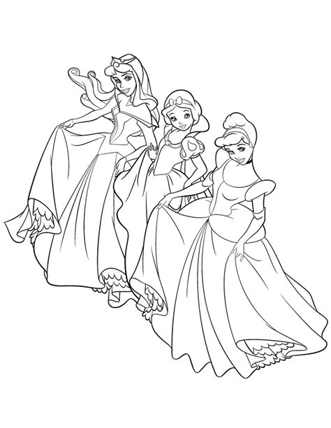 princess world coloring pages free printable disney princess coloring pages 2338