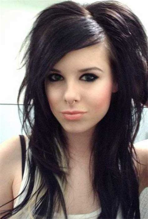 emo hairstyles for long faces 20 best funky haircuts for long hair hairstyles