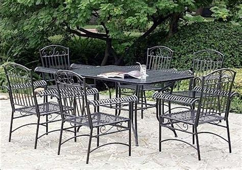 wrought iron patio furniture set cast iron patio set table chairs garden furniture