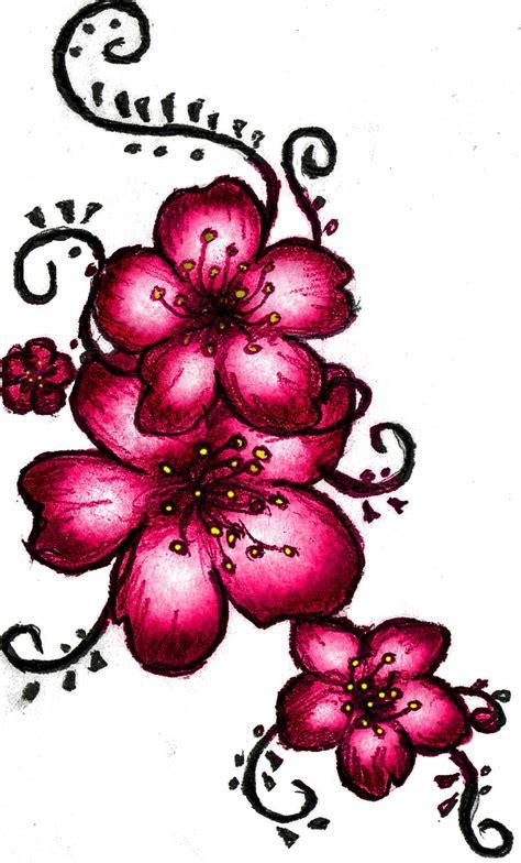 cherry blossom henna tattoo flower henna designs for arabic beginners