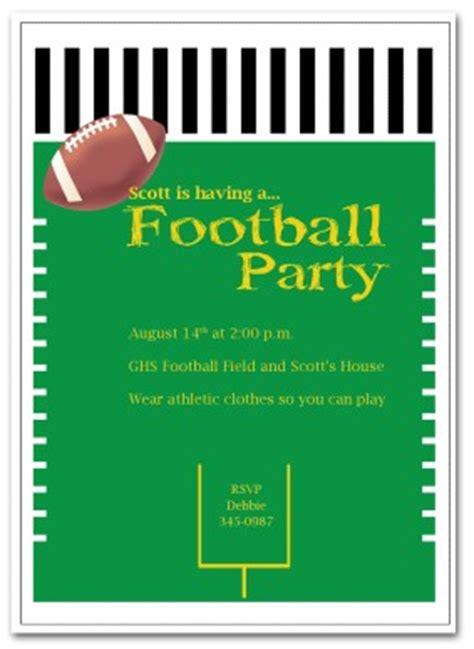 Printable Football Party Invitation Template Football Invitation Template