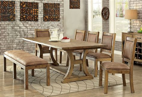 gustavo rustic dining room table