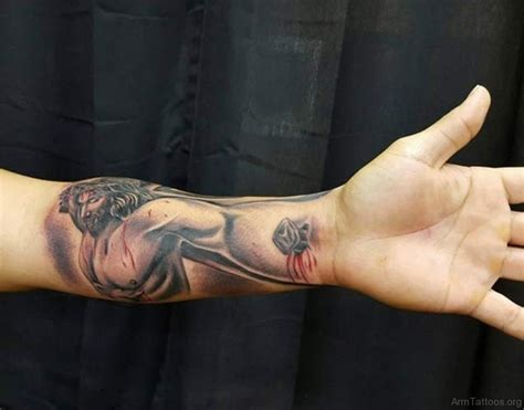 Jesus Tattoo Using Arm | 72 good jesus tattoos for arm