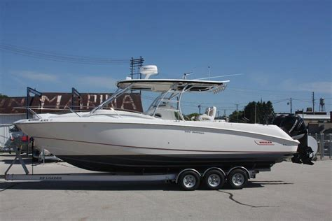 saltwater fishing boat with cabin 2007 used boston whaler 320 outrage cuddy cabin saltwater