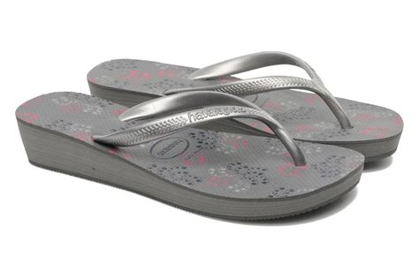 havaianas high light ii havaianas high light ii f flip flops in grey at sarenza co
