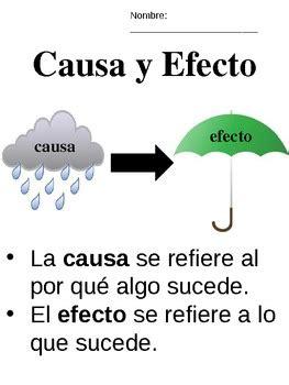 causa y efecto causa y efecto cause effect spanish by kristin