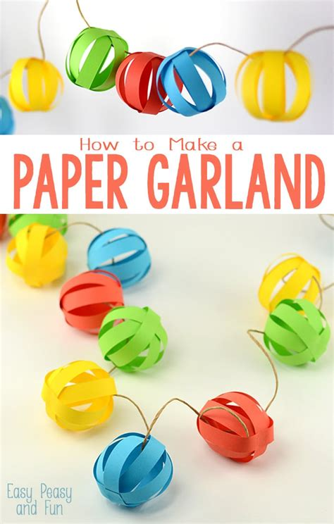 simple craft for christamas celebrationo paper garland easy peasy and