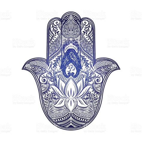 hamsa hand of fatima stock vector art amp more images of