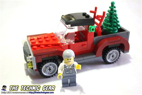lego 40083 christmas tree truck review lego reviews videos