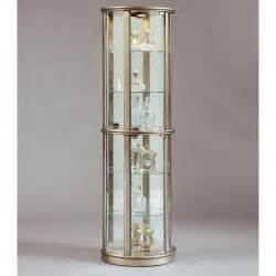 Curio Shelves Pulaski Platinum Glass Door Curio Cabinet At Hayneedle