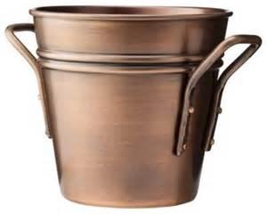 smith hawken round copper planter traditional indoor