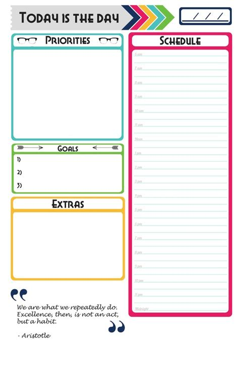 printable planner things made my own daily planner page free download for anyone