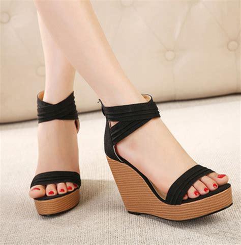high heeled wedges summer wedge heels fs heel