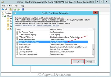 web server certificate template deploying web server certificate for site systems that run iis